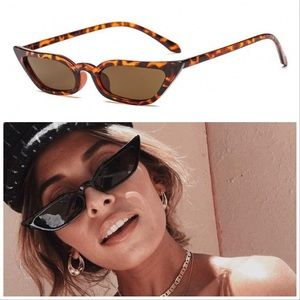 2/$10 💕 90s Retro Leopard Slim Cateye Sunglasses